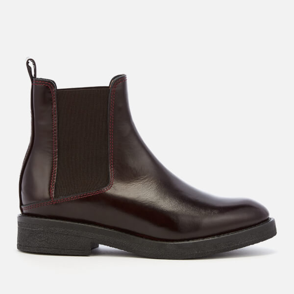 Whistles Women's Rubber Sole Chelsea Boots - Burgundy