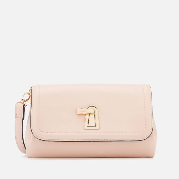 Dune Women's Enzie Key Lock Bag Clutch - Nude