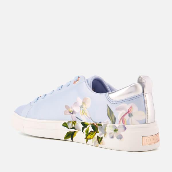 d37d90fea7b5 Ted Baker Women s Orosa Floral Low Top Trainers - Graceful Blue  Image 2