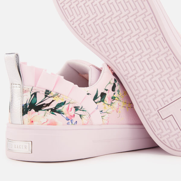 1eb0b89baa Ted Baker Women s Astrna 2 Leather Fill Low Top Trainers - Elegant Pink   Image 4
