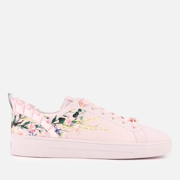 d147ba205f Ted Baker Women s Astrna 2 Leather Fill Low Top Trainers - Elegant Pink   Image 1