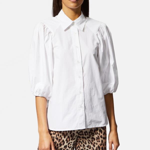 Ganni Women's Olayan Shirt - Bright White