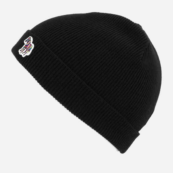 e04d1daa21a Paul Smith Men s Lambswool Beanie Hat - Black  Image 2