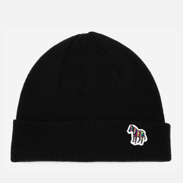 Paul Smith Men's Lambswool Beanie Hat - Black