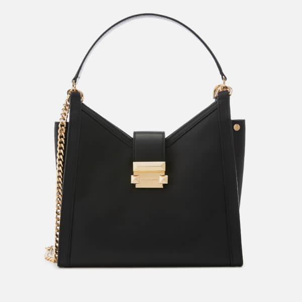 2bab3087f0f MICHAEL MICHAEL KORS Women s Whitney Chain Shoulder Tote Bag - Black  Image  1