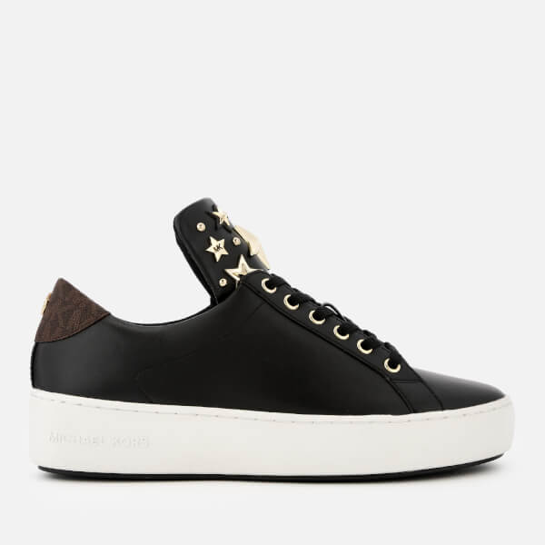 7ed27b8859e2 MICHAEL MICHAEL KORS Women's Mindy Leather Low Top Trainers - Black/Brown:  Image 1