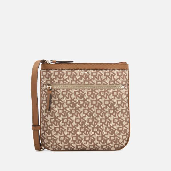 b7c76e94ed72 DKNY Women s Casey Zip Cross Body Bag - Cream  Image 1
