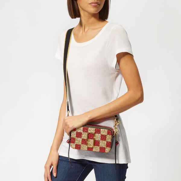 3ef22702ee55 Marc Jacobs Women s Snapshot Checkerboard Bag - Gold Multi  Image 3