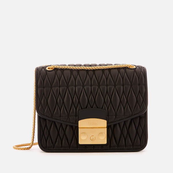 Furla Women's Metr.Cometa Small Cross Body Bag - Black