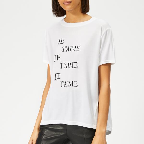 Whistles Women's Je T'aime Logo T-Shirt - White