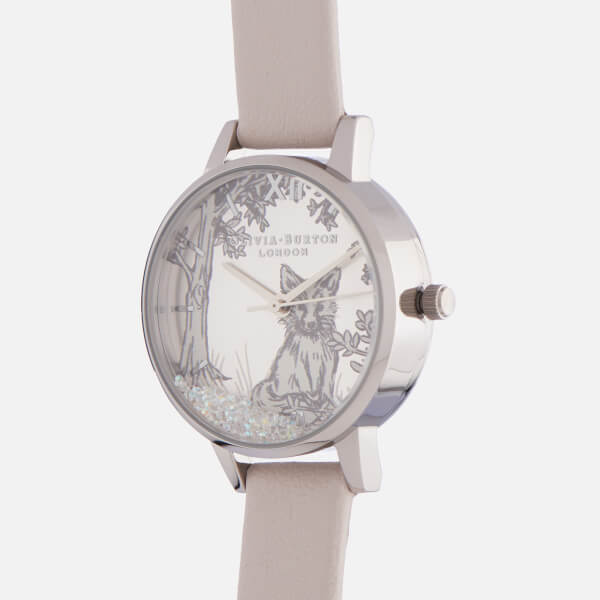 1319e1ec78229 Olivia Burton Women s Snow Globe Watch - Blush   Silver  Image 3