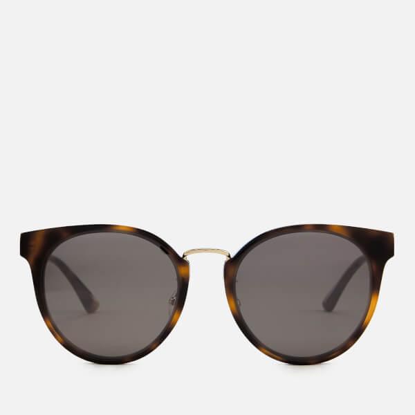 b8407b440b076 McQ Alexander McQueen Women s Oval Frame Acetate Sunglasses - Brown  Image 1