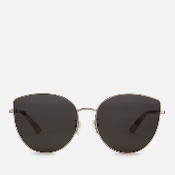 McQ Alexander McQueen Women's Metal Square Frame Sunglasses - Gold