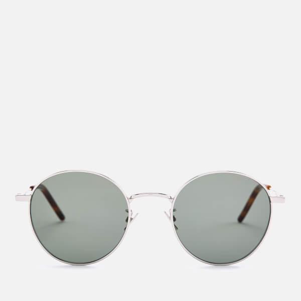Saint Laurent Metal Round Sunglasses - Silver