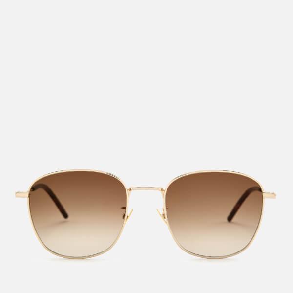 Saint Laurent Square Frame Sunglasses - Gold