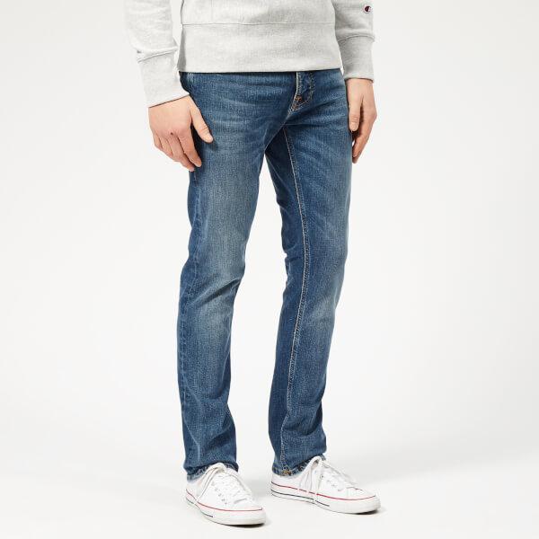 Nudie Jeans Men's Grim Tim Slim Jeans - Mid Authentic Indigo