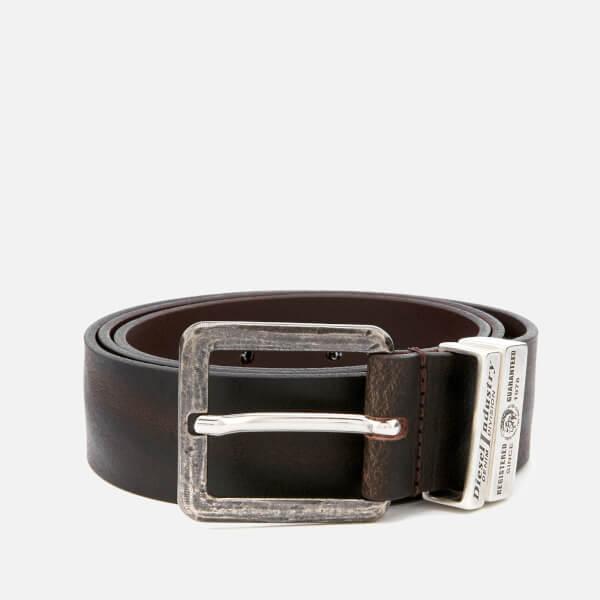 Diesel Men's Guarantee Leather Belt - Brown