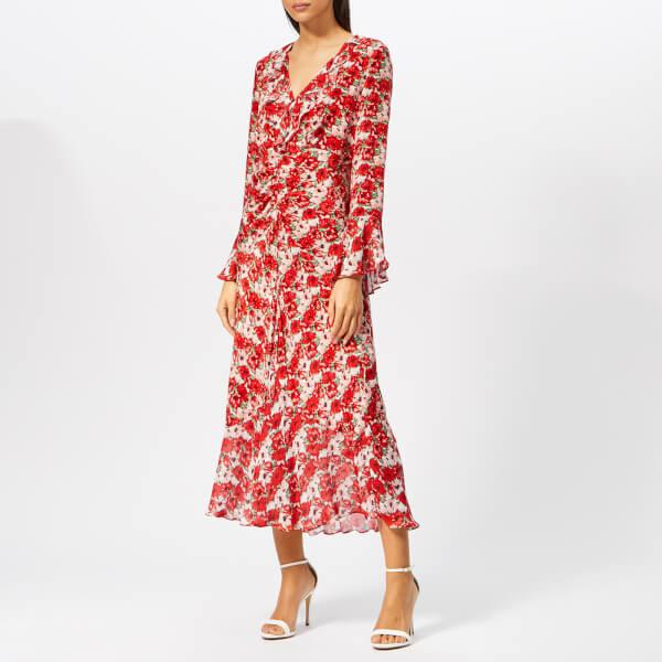 RIXO Women's Coleen Diana Floral Dress - Red
