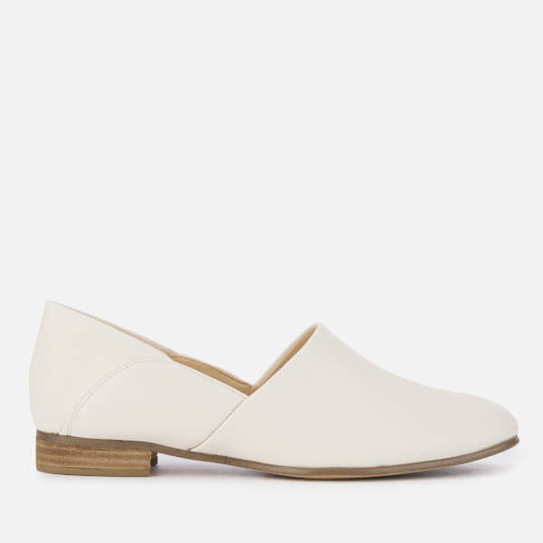 Clarks Women's Pure Tone Leather Shoes - White