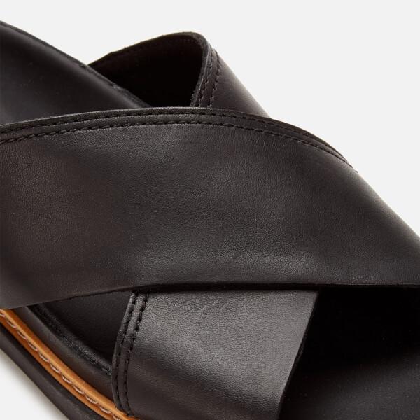 3c3e98510c73 Clarks Women s Trace Drift Leather Cross Front Sandals - Black  Image 4