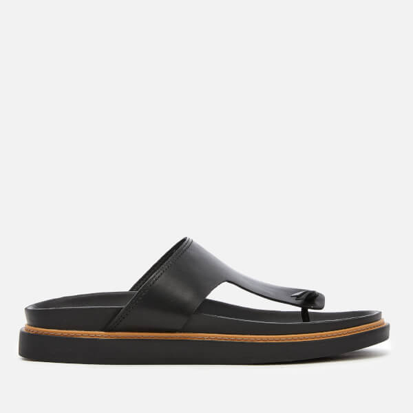 Clarks Men's Trace Sand Leather Toe Post Sandals - Black