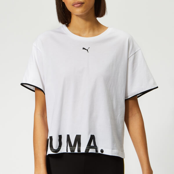 Puma Women's Chase Cotton Short Sleeve T-Shirt - Puma White