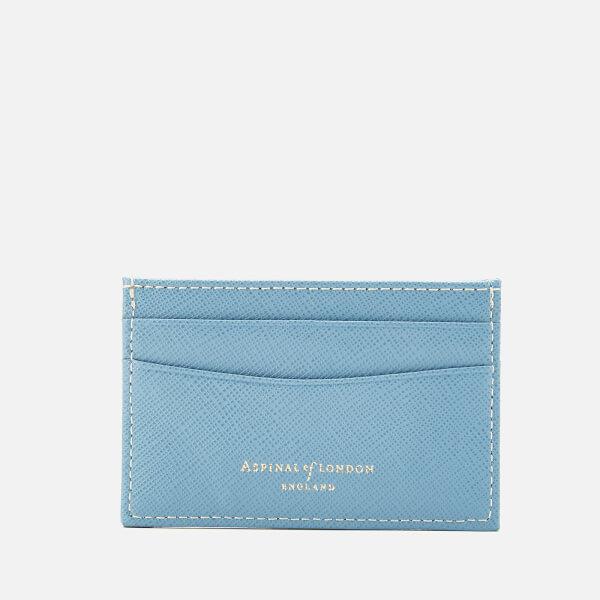 Aspinal of London Women's Slim Credit Card Case - Bluebird