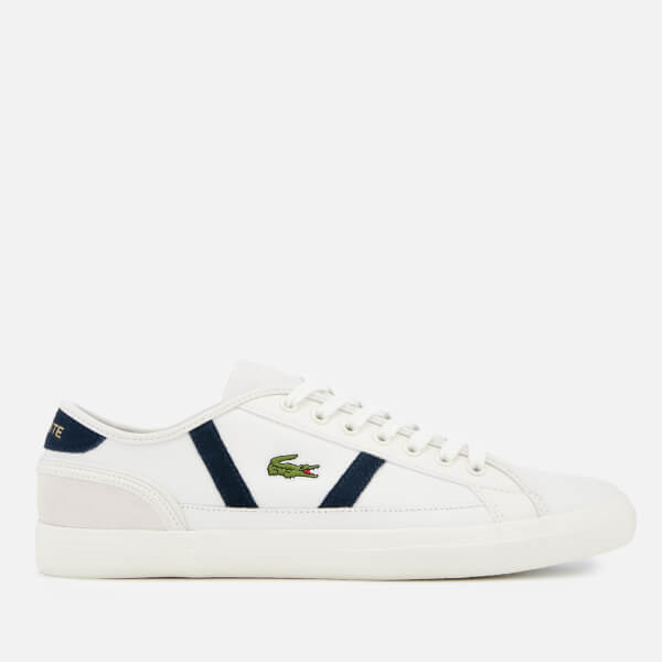 5d4486cf2 Lacoste Men s Sideline 119 3 Leather Trainers - Off White Navy  Image 1