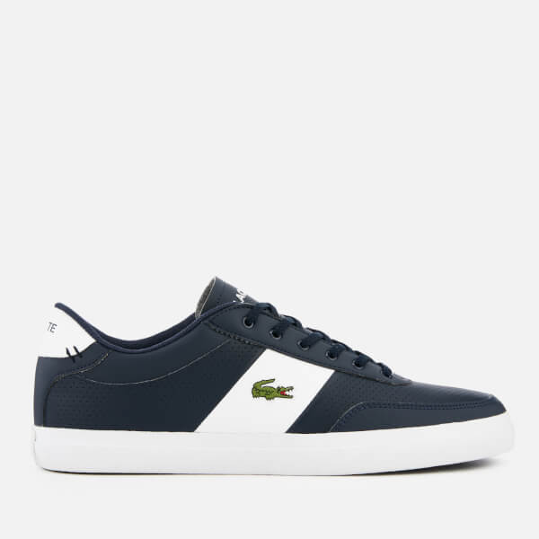ac3bc16d4efc Lacoste Men s Court-Master 119 2 Perforated Leather Trainers - Navy White   Image