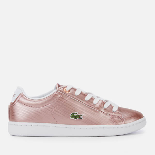 Lacoste Kids' Carnaby Evo 119 6 Low Top Trainers - Pink/White