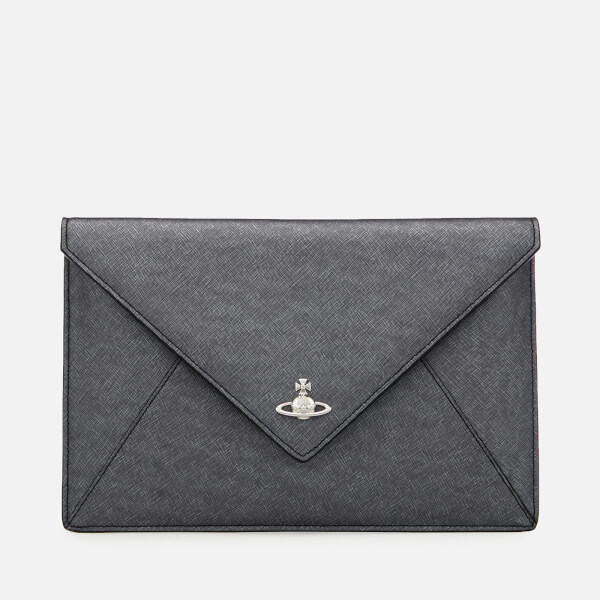 Vivienne Westwood Women s Victoria Envelope Clutch Bag - Anthracite  Image 1 70bb04c822fa0