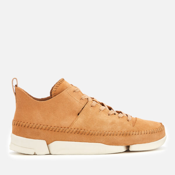 Clarks Originals Men's Trigenic Flex Suede Trainers - Light Tan
