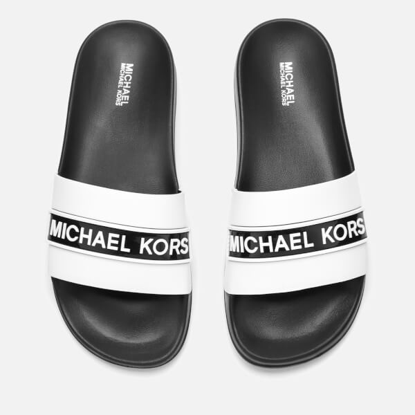 MICHAEL MICHAEL KORS Women's Demi Slide Sandals - Optic White/Black