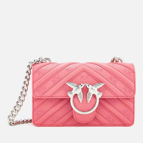 Pinko Women's Mini Love Stripes Shoulder Bag - Pink