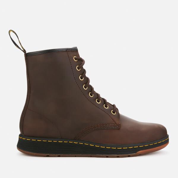 Dr. Martens Men's Newton Lite Crazyhorse Leather 8-Eye Boots - Gaucho