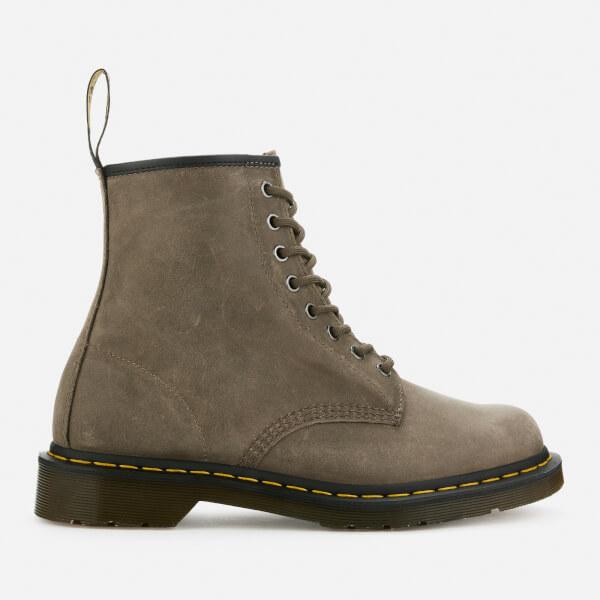 Dr. Martens Men's 1460 Dusky Leather 8-Eye Boots - Olive