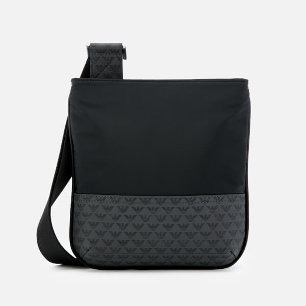 Emporio Armani Men's Flat Messenger Bag - Navy/Black