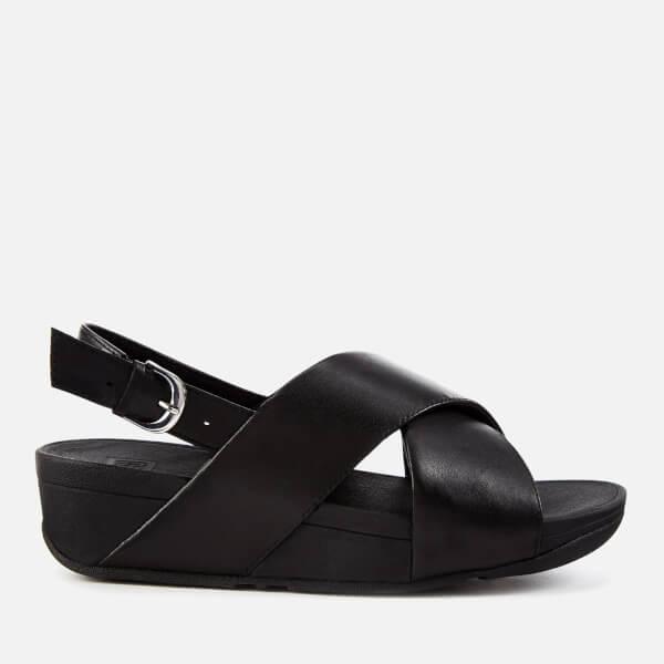 a0dd77a904a9bd FitFlop Women s Lulu Leather Cross Back Strap Sandals - Black  Image 1