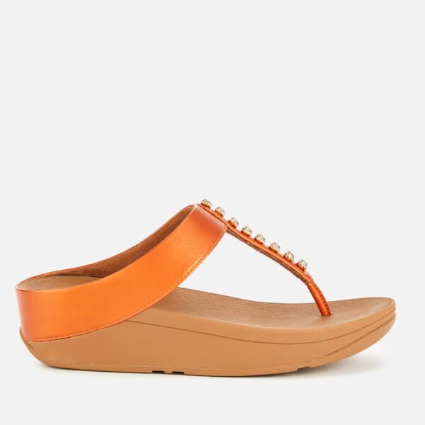 FitFlop Women's Fino Treasure Toe Post Sandals - Amber Ash