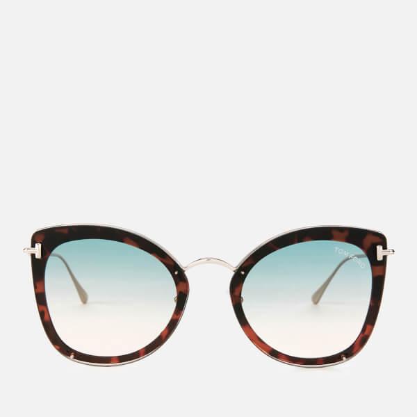 Tom Ford Women's Charlotte Sunglasses - Blonde Havana/Green