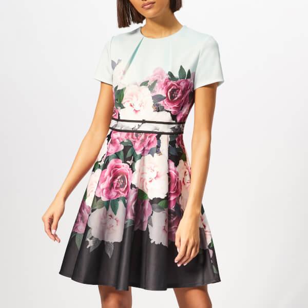 10ffc5f9e496eb Ted Baker Women s Wilmana Magnificent Skater Dress - Mint Womens ...