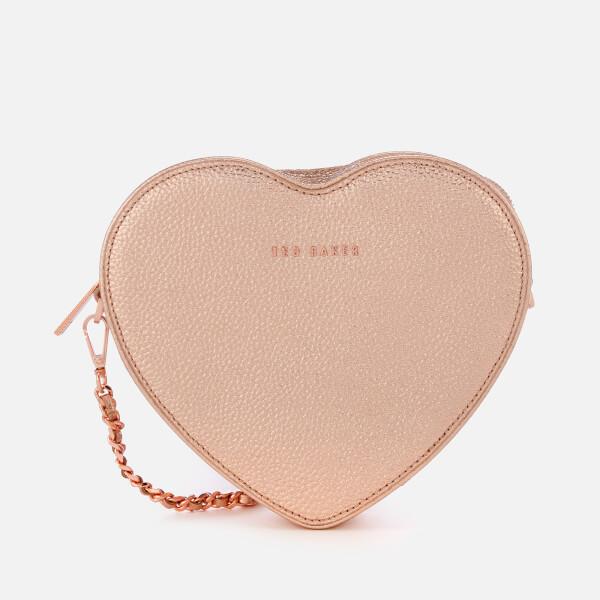 8aef0b5f18 Ted Baker Women s Amellie Heart Cross Body Bag - Rose Gold  Image 1