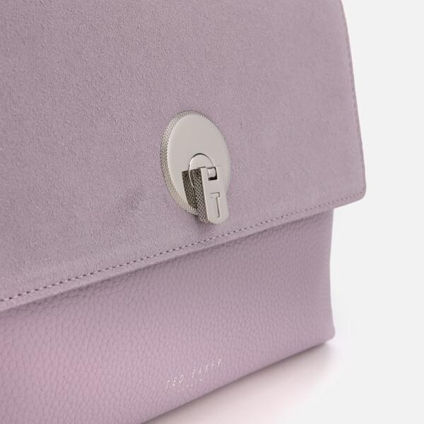 dad83da9a Ted Baker Women s Sylvana Circle Lock Cross Body Bag - Light Purple  Image 4