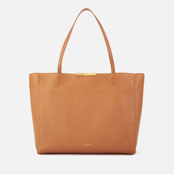 912a74582 Ted Baker Women s Clarkia Soft Grain Faceted Bar Shopper Bag - Tan  Image 1