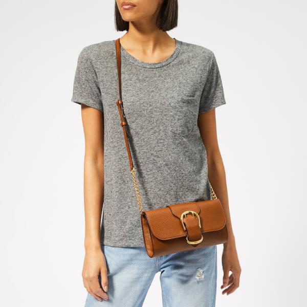 91545a1d4bcb Lauren Ralph Lauren Women s Soft Pebble Leather Clutch Bag - Brown  Image 3
