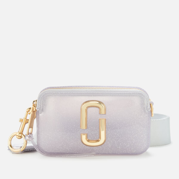 Marc Jacobs Women's The Jelly Glitter Snapshot Bag - Silver Multi