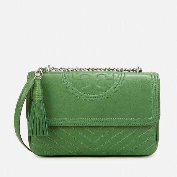 Tory Burch Women's Fleming Distressed Shoulder Bag - Watercress