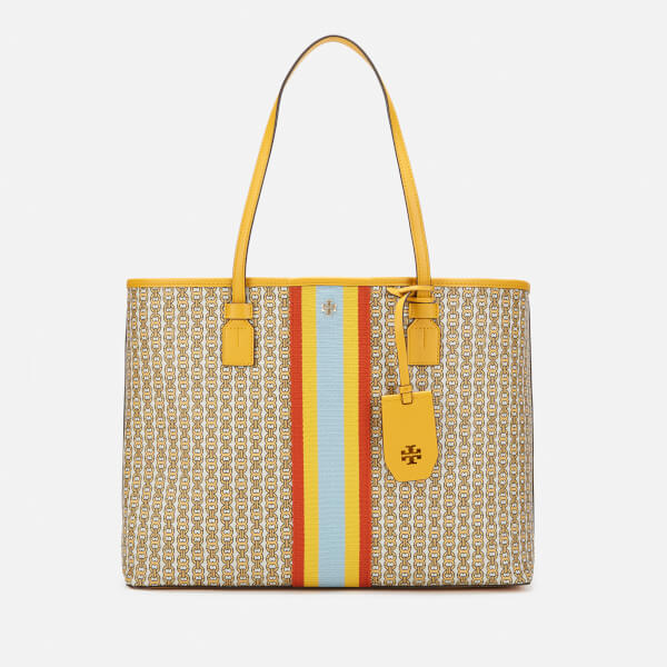 567c4271e81 Tory Burch Women s Gemini Link Canvas Tote Bag - Daylily  Image 1