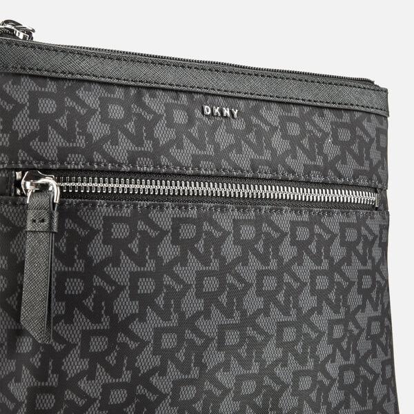 085ff1de67 DKNY Women s Casey Zip Cross Body Bag - Black Logo  Image 4
