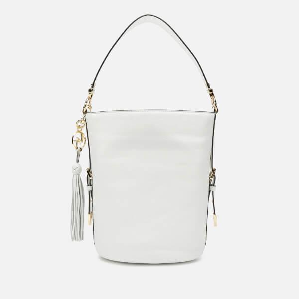 76b3625faf04 MICHAEL MICHAEL KORS Women s Brooke Medium Bucket Messenger Bag - Optic  White  Image 2